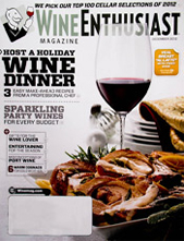Wine Enthusiast December 2012 cover