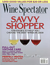 Wine Spectator January 31, 2009 cover