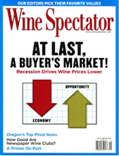 Wine Spectator January 31, 2010 cover