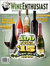 Wine Enthusiast November 2009 cover